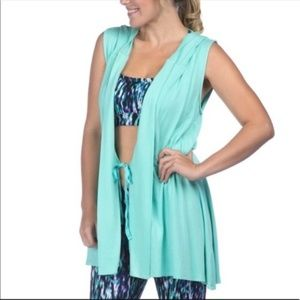 NWT Pink Lotus Movement Coverup Hooded Vest M